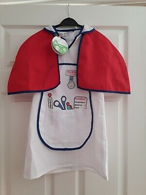 £3.50 • Buy New Girls Nurses Outfit, Fancy Dress, Role Play, 5-6 Years, ELC, Girls Clothes