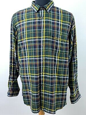 $22.32 • Buy Cremieux Men's Flannel Shirt Size XL Sycamore Green Plaid Button Up Top New