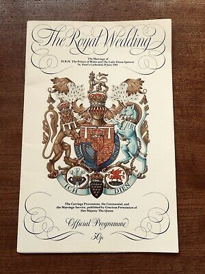 £2.99 • Buy Royal Wedding Official Programme - Charles And Diana 1981