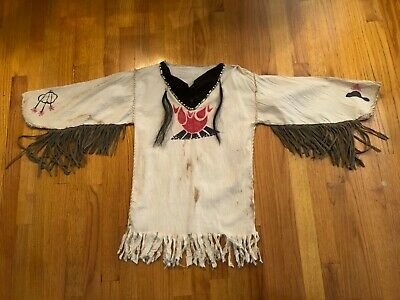 $64.99 • Buy Mountain Man Shirt, Reenactment, Indian, Colonial Youth Small White Hand Made