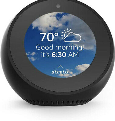 AU74.53 • Buy NEW! Amazon Echo Spot Black With Alexa Voice Smart Assistant LCD Touchscreen