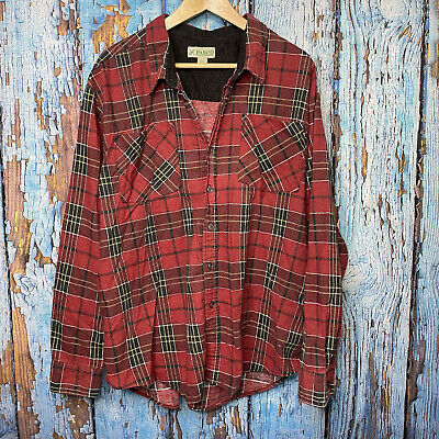 $14.99 • Buy Haband Mens Flannel Size Xxl Black/red/white