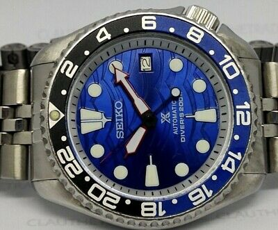 $ CDN65.95 • Buy Seiko Diver 7002-700a Lovely Save The Ocean Mod Automatic Mens Watch 520968