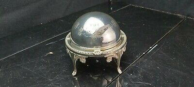 £10.50 • Buy A Antique Silver Plated Roll Top Butter Dish With Engraved Patterns.england.