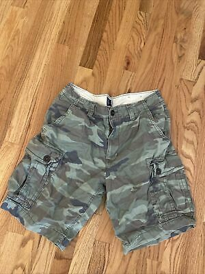 $30 • Buy American Eagle Mens Green Classic Camouflage Cargo Shorts Size 34