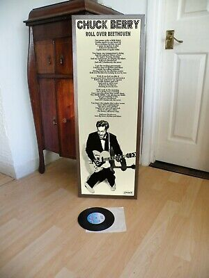 £14.99 • Buy Chuck Berry Roll Over Beethoven Promotional Poster Lyric Sheet,maybellene