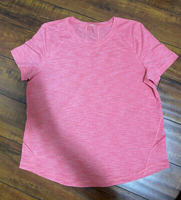 $ CDN47.84 • Buy Lululemon Another Mile Short Sleeve Top Size 12- 14 Coral