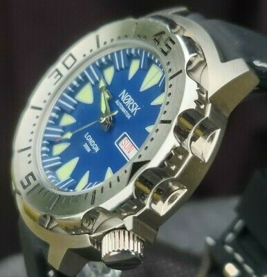 $ CDN64.20 • Buy Automatic Sea Monster Watch, Norsk, Norway, Diver, Seiko NH36a Movement. Blue