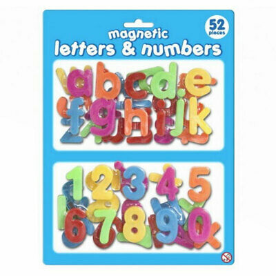 £7.99 • Buy Magnetic 52 Piece Plastic Letters And Numbers