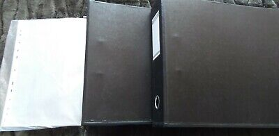 £20 • Buy Two A3 Landscape-format  Ring Binders, Plus Heavy Duty Poly-pockets – Exc. Cond.