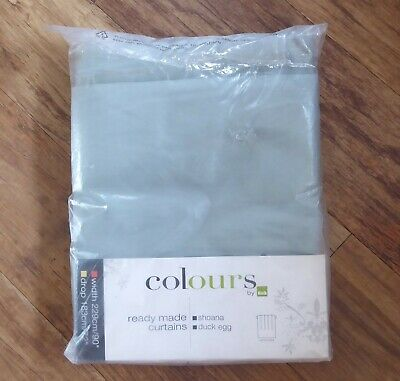 £35 • Buy B&Q Colours Shoana Duck Egg Pencil Pleat Curtains W90 X D72 New In Packet