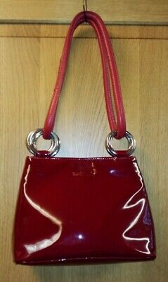 £37.50 • Buy Gorgeous Russell & Bromley Red Genuine Patent Leather Shoulder Bag & Dust Bag