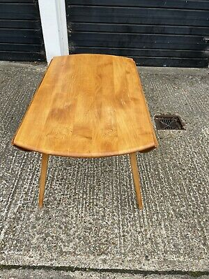 £160 • Buy Vintage Mid Century Oval Ercol Drop Leaf Blonde  Dining Table , Delivery Poss