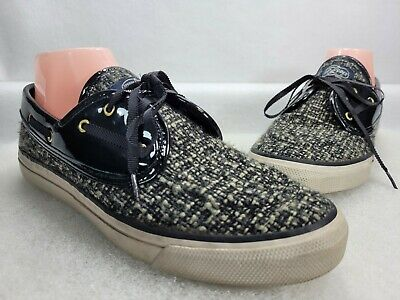 $ CDN36.45 • Buy Sperry Top Sider Womens 9293606 Black Low Top Lace Up Boat Shoes Size 9 M