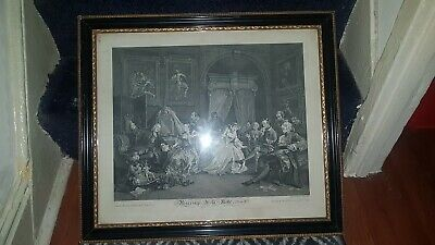 £129.99 • Buy 1745 William Hogarth Marriage-a-la-Mode IV Early Antique Caricature Engraving
