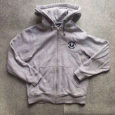 £19 • Buy Boys Fred Perry Full Zip Hoodie Grey - Yourh Size M