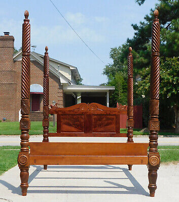 $3600 • Buy Federal/Empire Mahogany Tall Poster Bed~~Queen~~
