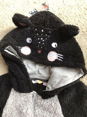 £2 • Buy JOHN LEWIS SPARKLY CAT SOFT FLEECE All In One Age 13yrs