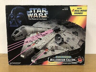 $ CDN207.71 • Buy Vintage Star Wars Power Of The Force Electronic Millennium Falcon Complete & Box