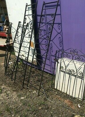 £85 • Buy Wrought Iron Railings And Gate Used Garden Fence Garden Gate