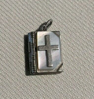 £17.20 • Buy Sterling Silver & Mother Of Pearl Pendant Charm Book Bible Lord's Prayer