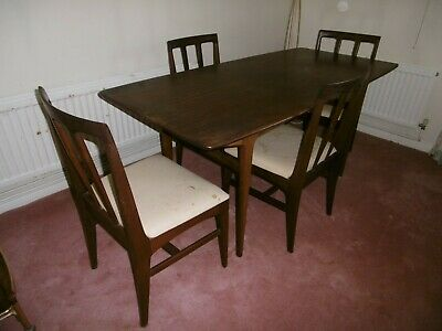 £150 • Buy A. Younger Teak Afromosia Retro Vintage Dining Table & 4 Chairs