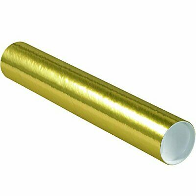 $109.32 • Buy Aviditi Gold Mailing Tubes With Caps 3 Inch X 18 Inch Pack Of 24 For Shipping...