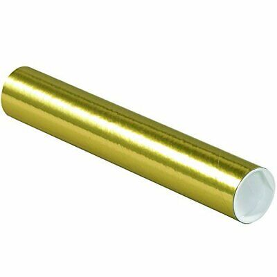 $85.39 • Buy Tape Logic TLP2012GO Mailing Tubes With Caps 2  X 12  Gold Pack Of 50