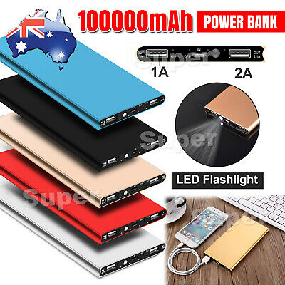 AU18.95 • Buy 100000mAh Portable Power Bank USB Battery Charger Powerbank For IPhone Mobile