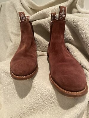 AU250 • Buy RM Williams Classic Craftsman Chocolate Suede Boots - Sz 7D