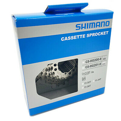 £22.72 • Buy 9 Speed Cassette Shimano HG201 All Sizes Bicycle Rear Gears Sprocket Cogs