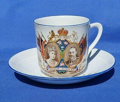 £3.99 • Buy Alma Ware Commemorative King George V Silver Jubilee Cup & Saucer  #305