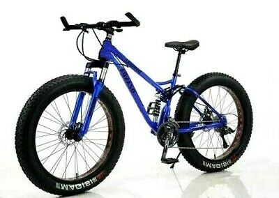 AU479 • Buy 26  Large Fat Tyre Bicycle Beach Mountain Bike Full Suspension 21 Speed