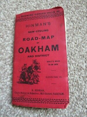 £1.99 • Buy Vintage Hinman's New Cycling Road Map Of Oakham And District  House Clearance