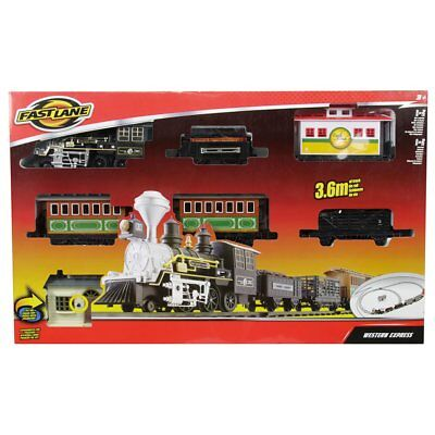 £54.99 • Buy FAST LANE WESTERN EXPRESS TRAIN SET 3.6m Track Realistic Sound Kids Toys Play