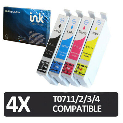 £4.99 • Buy 4x Cartridges NON-OEM For Use In Epson Stylus CX4300, DX4400, DX7000F, DX7450