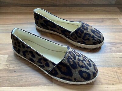 £8 • Buy New Look Espadrille Slip On Leopard Print Dolly Shoes UK Size 3 - Brand New
