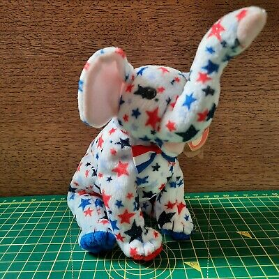 £2 • Buy TY Beanie Babies / Countries Bears / Righty 2004 / USA Stars Elephant / With Tag