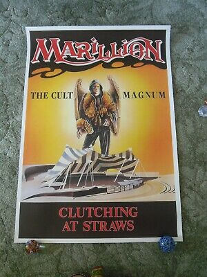 £14.99 • Buy 1987 MARILLION - CLUTCHING AT STRAWS TOUR POSTER, + THE CULT, MAGNUM. 86 X 61cm