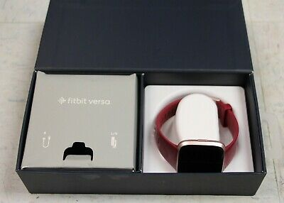 $ CDN37.44 • Buy Fitbit Versa Fitness Smartwatch FB504 Rose Gold/Red Band •Free Shipping•