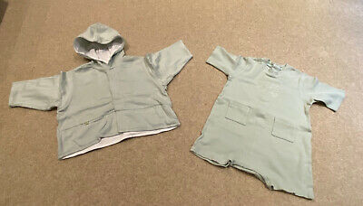 £8.99 • Buy Jean Bourget Baby Boy Green Jacket And One Piece Set Age 12 Months