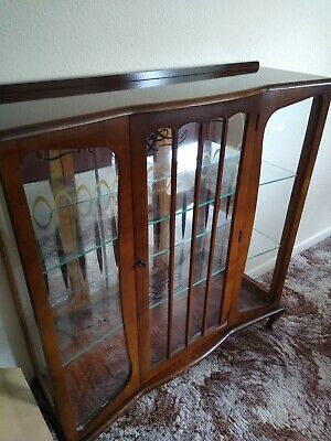 £9.99 • Buy Wooden Glass Display Cabinet