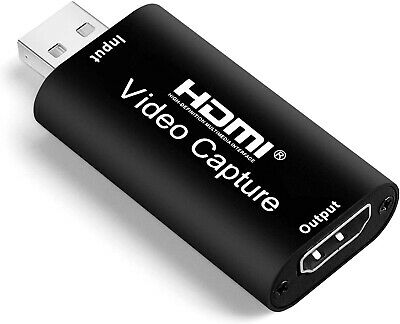 £14.99 • Buy HD Audio Video Capture Card Hdmi To USB2.0 1080P 30FPS Record Via DSLR Camcorder