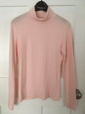 £0.99 • Buy Baby Pink Long Sleeve Polo Neck Roll Top By Uniqlo Size S Up To Size 12