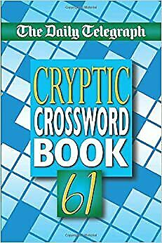 £9.38 • Buy UK Daily Telegraph Cryptic Crossword Book 61 Fast Shipping