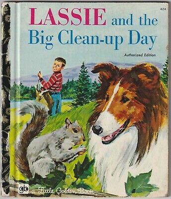 £1.03 • Buy Lassie And The Big Clean-up Day - Kennon Graham - Little Golden Book - 1972
