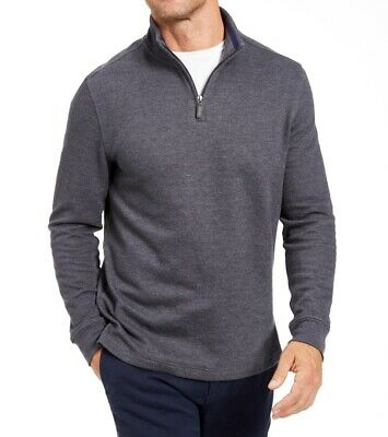 £0.71 • Buy Club Room Mens Sweater Charcoal Gray Size Large L Quarter-Zip Pullover $60 #198