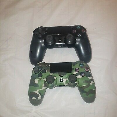 AU1.07 • Buy Two 2 OEM Sony PS4 Controllers Playstation DualShock Camo For Parts Not Working