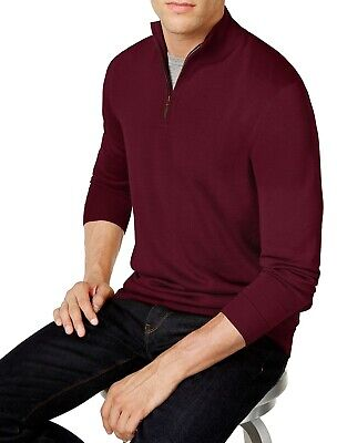 £0.71 • Buy Club Room Mens Sweater Red Size 2XL Quarter Zip Pullover Knit Wool $75 #122