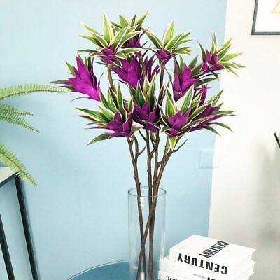 $28.17 • Buy Artificial Plants Tropical Tree Leaves Fake Bamboo Magnolia Foliage For Decor